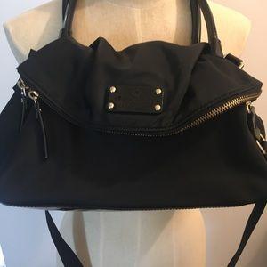 Black nylon Kate Spade shoulder/crossbody purse